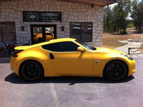 custom nissan 370z for sale 2009 nissan 370z chicane yellow pearl 6 speed manual w