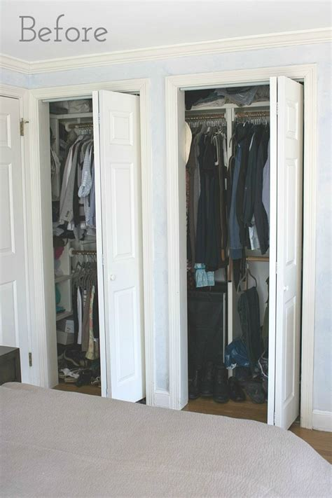 How To Replace Closet Doors by Replacing Bi Fold Closet Doors With Curtains Our Closet