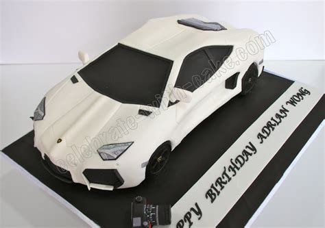 celebrate with cake sculpted lamborghini aventador cake