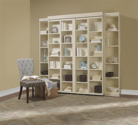 bifold bookcase bed contemporary living room