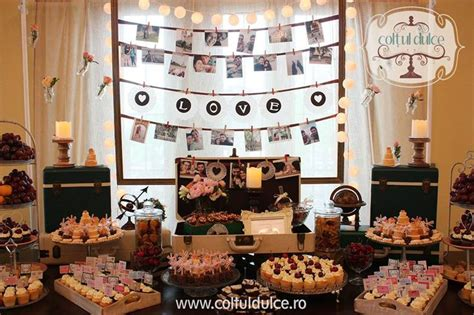 Sweet Cornerdessert Table 21 travel theme trip bar coltul dulce dessert table