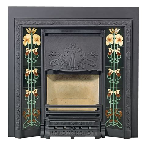 Lined Fireplace Tiles evening primrose fireplace tiles stovax classic