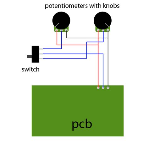 resistor in parallel with potentiometer how to switch between two potentiometers