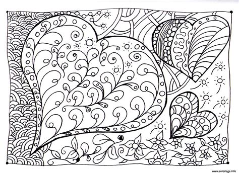 color my hearts coloring book one books coloriage coeur zen dessin