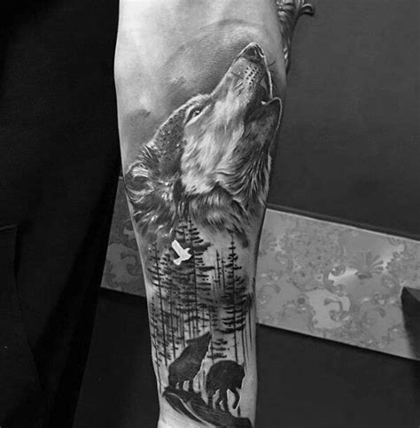 wolf arm tattoo the 85 best wolf tattoos for improb