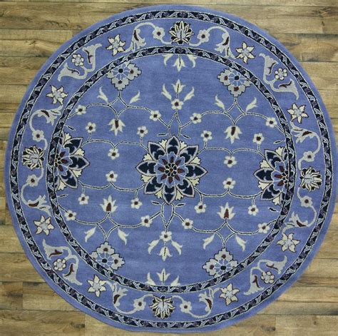 8x8 wool rug tufted blue floral 8x8 oushak area rug wool carpet new ebay