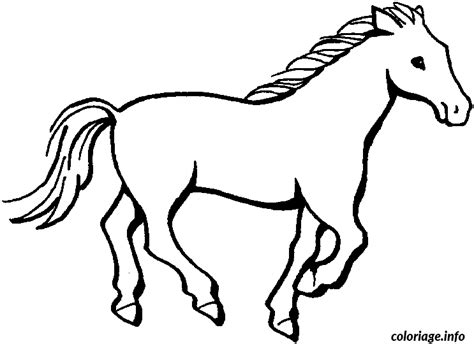 easy pony coloring pages coloriage dessin de cheval jecolorie com