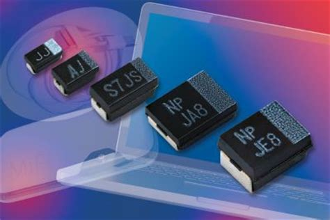 low leakage surface mount capacitor vishay new t55 vpolytan surface mount polymer tantalum molded chip capacitors offer ultra low