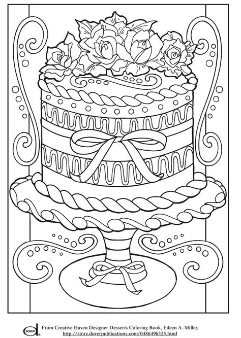 printable adult coloring pages wedding cake