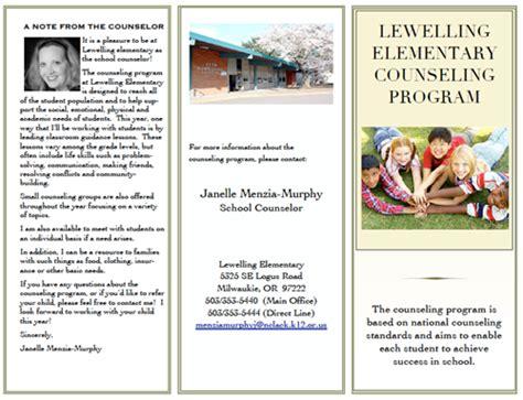 school counselor brochure counseling brochure clackamas school district