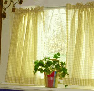 cafe curtain length bright yellow and white cafe curtains gingham check