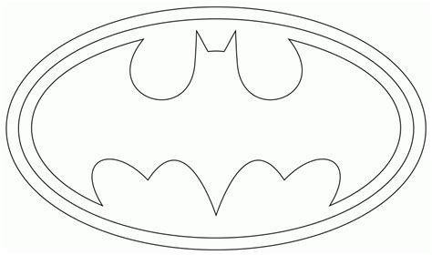 free coloring pages of do batman emblem