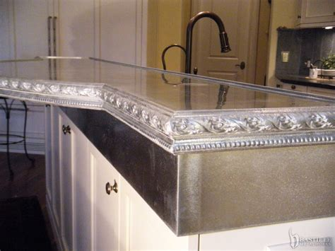 Pewter Countertops Cost by Cast Pewter Countertop On Zinc Riser Princeton