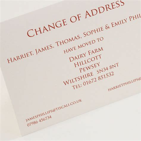 the classic of changes classic change of address cards by this is nessie notonthehighstreet com