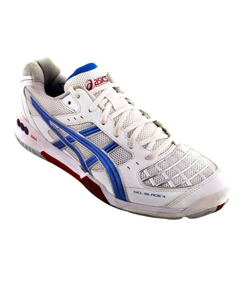 asics sports shoe asics white badminton sport shoes gel blade 4 price in