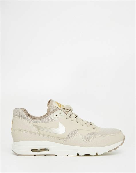 Beige Air Max by Nike Nike Air Max Essentials Beige Trainers At Asos
