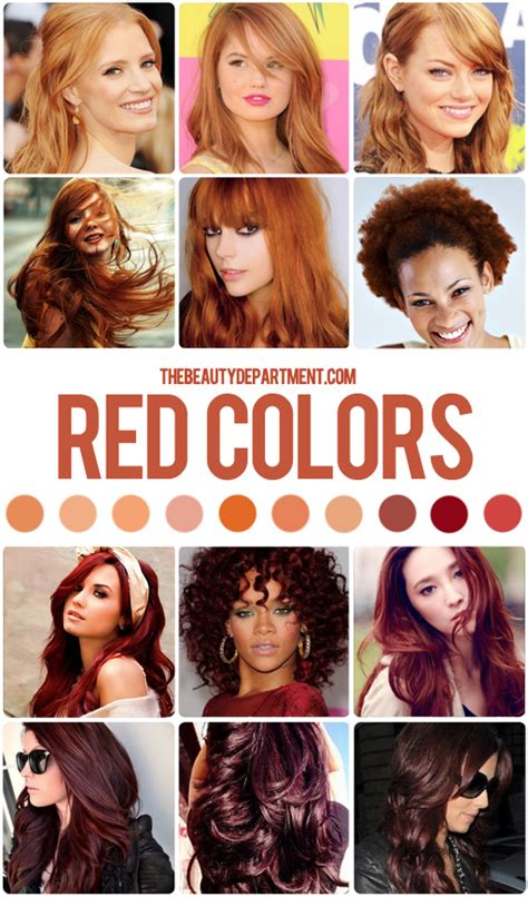 the right shade of red the beauty department your daily dose of pretty hair