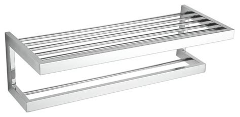 rikke stainless steel towel bar with shelf