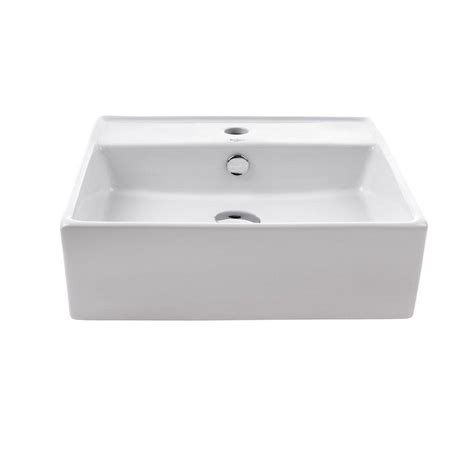 rectangle vessel sinks bathroom sinks the home depot