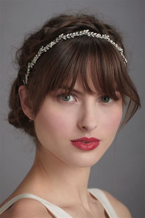 hairstyle added with a thin jeweled headband