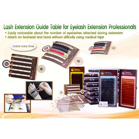 eyelash extension table neicha lash extension guide table 5pcs eyelash products