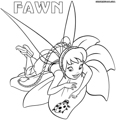 Fawn Fairy Coloring Pages Coloring Pages To Download And Fawn Coloring Pages