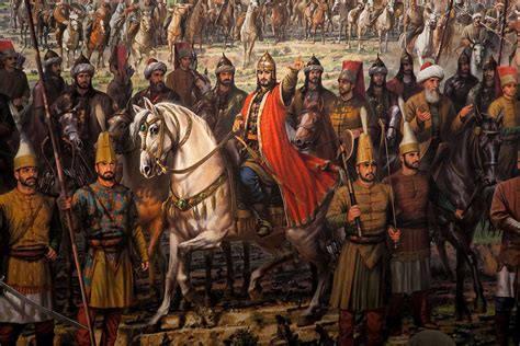 Turks Ottoman Empire by Ottoman Empire Panoramic Illustration From A Museum In