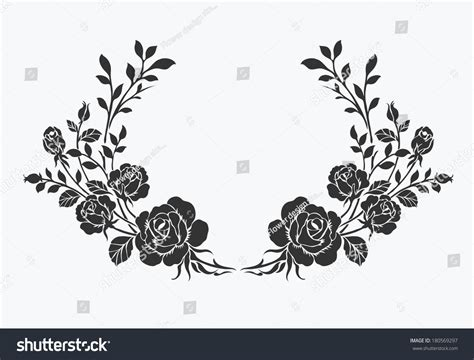 rose bordervector ornamental decorative elements design