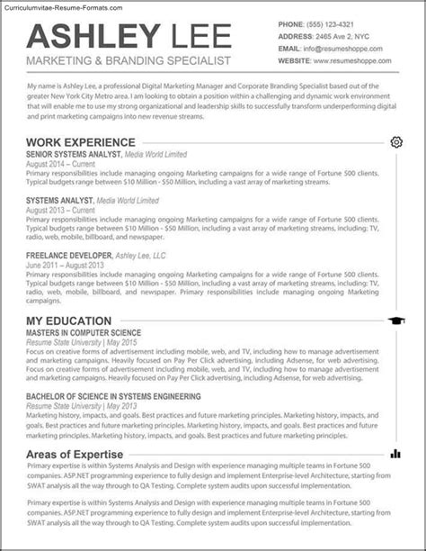 Resume Template For Microsoft Word by Microsoft Word Resume Template For Mac Free Sles
