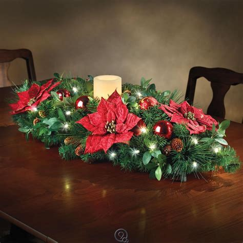 the cordless prelit holiday christmas candle centerpiece