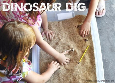dinosaur excavation  kids kids activities saving money home management motherhood