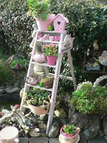 outdoor garden decorations made of wooden ladders 25 best ideas about shabby chic garden on pinterest
