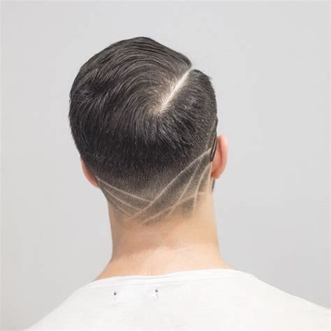 hair cut at neckline the neck taper
