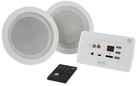 ceiling speaker lifier cie clever box in wall stereo with 2 x ceiling speakers avid3 system c