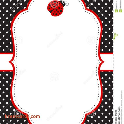 Business Card Template With Ladybug by Bug Baby Shower Invitations Ladybug Invitation
