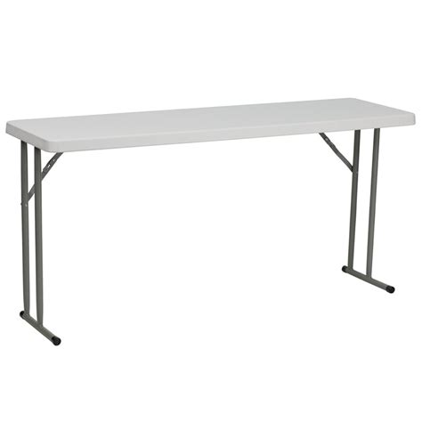 18 x 60 table buy 18 w x 60 l granite white plastic folding