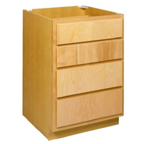 4 drawer base cabinet zee mfg db24bh 24 in unfinished birch 4 drawer base