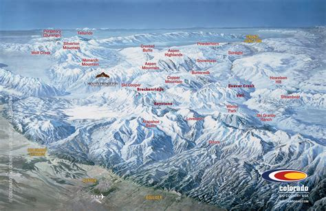 map of colorado ski resorts list of colorado ski resorts near springs
