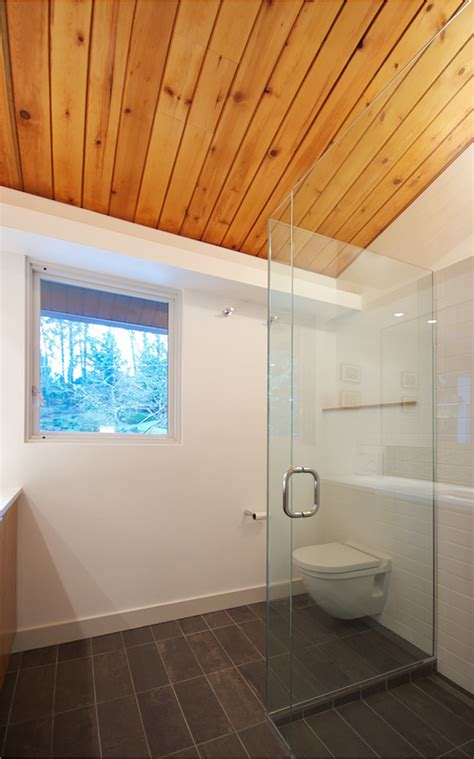 bathroom wood ceiling ideas mid century bath in situ