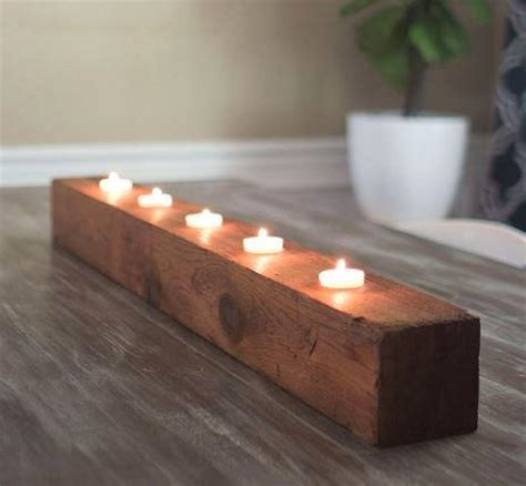rustic diy tea light candle holder diyideacentercom