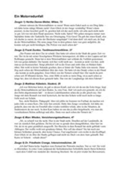bericht schreiben mit zeugenaussagen 4teachers lehrproben unterrichtsentw 252 rfe und unterrichtsmaterial f 252 r lehrer und referendare