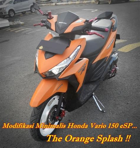 Motor Modif Skotlet Orange by Modifikasi Minimalis Honda Vario 150 Esp Custom Orange