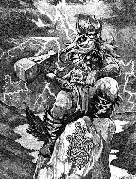 ancient god thor thor god of thunder viking norse myth legend norse