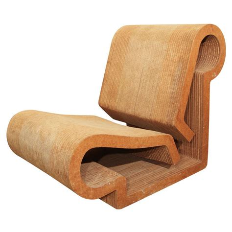 Ghery Chair - quot contour quot chair by frank gehry for sale at 1stdibs