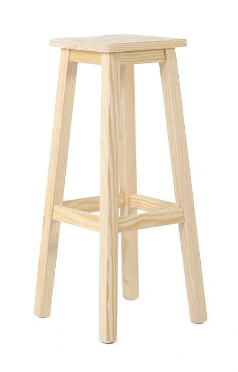 Tabouret En Pin by Tabouret De Bar Carr 233 Pin Massif Brut Grenier Alpin