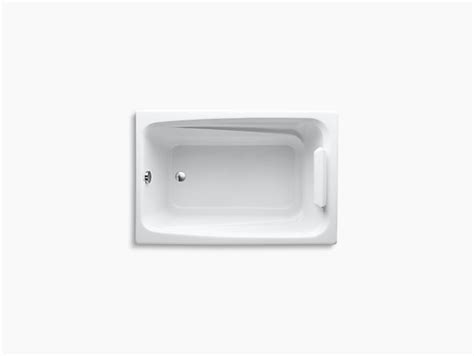 kohler greek bathtub greek 4 foot drop in bath k 1490 x kohler