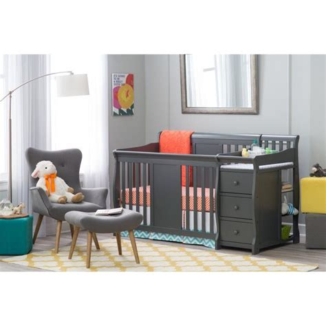grey crib and changing table best 25 crib with changing table ideas on