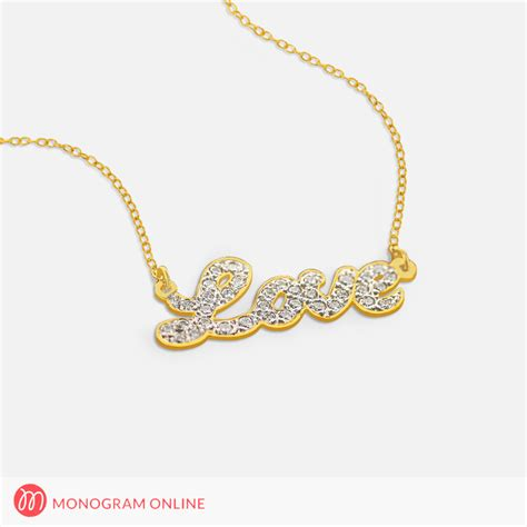 solid gold personalized name necklace with stones