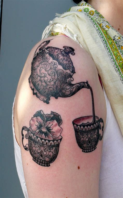 teapot tattoo designs teapot and teacup clever tattoos