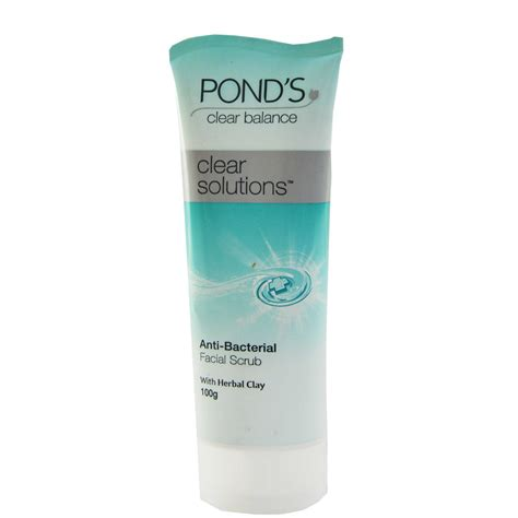 Ponds Clear Solution Antibacterial Clearrity Scrub 100g ponds clear solution antibacterial scrub